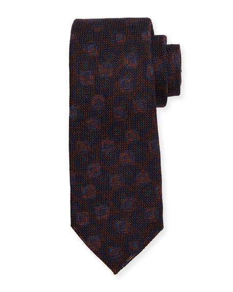 Grenadine Woven Silk Tie, Merlot