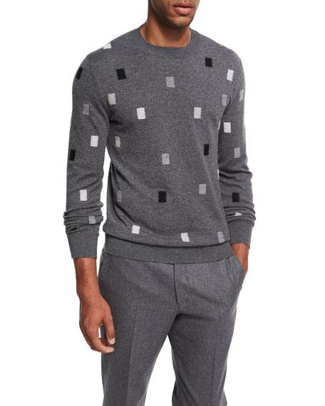 Ermenegildo Zegna Cashmere Rectangle Crewneck Sweater