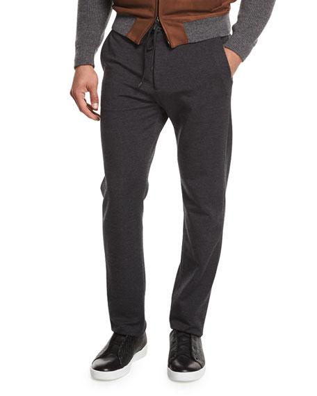 Drawstring Jogger Pants, Dark Charcoal Gray