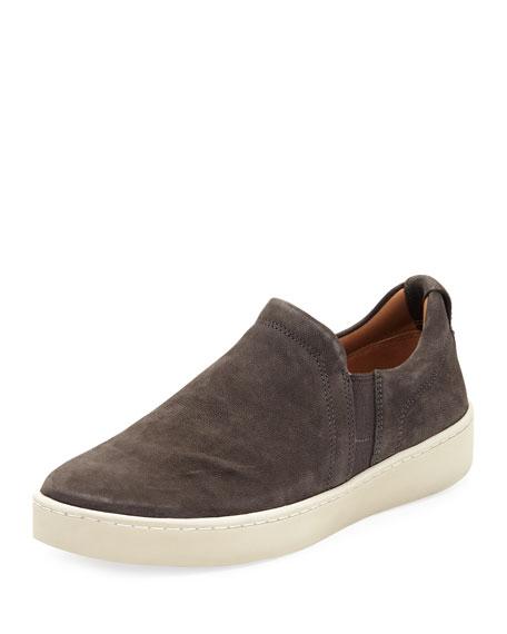 Vince Soren Washed Nubuck Slip-On Sneaker, Gray