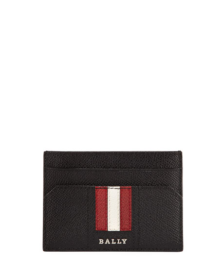 Bally Taclipo Leather Business Card Holder