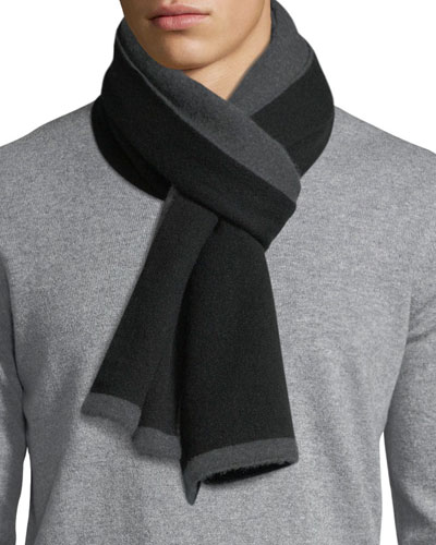 Double-Face Cashmere Knit Scarf