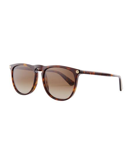 Gucci Acetate Pantos Sunglasses, Dark Brown