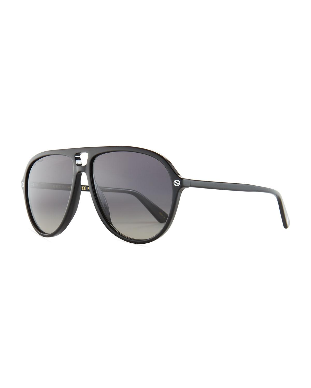 775fde66c81 Gucci Oversized Acetate Aviator Sunglasses