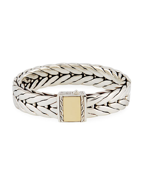 John Hardy Men's Modern Chain Large Rectangle Bracelet