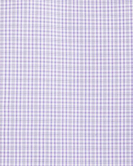 Slim-Fit Check Cotton Dress Shirt
