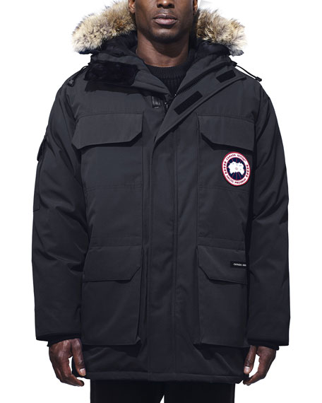Canada Goose  EXPEDITION HOODED PARKA WITH FUR TRIM, NAVY