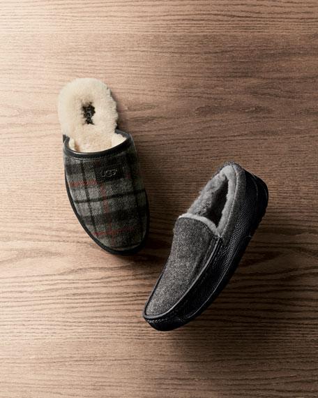 Men's Ascot Leather & Wool Slipper