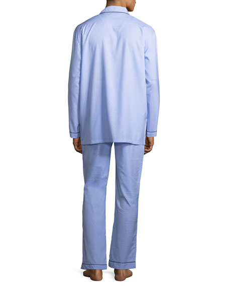 Woven Pajama Set with Piping