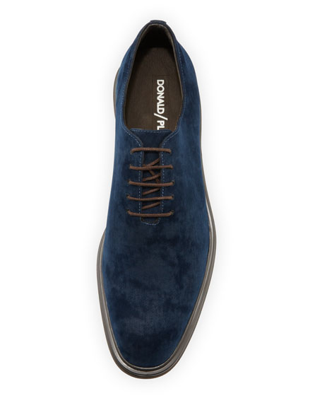 Eduardo Distressed Velvet Oxford Shoe