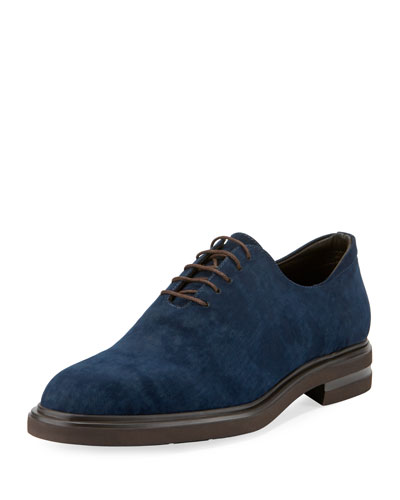 Eduardo Distressed Velvet Oxford Shoe