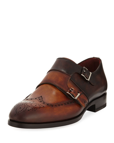 Magnanni for Neiman Marcus BI COLOR DOUBLE MONK