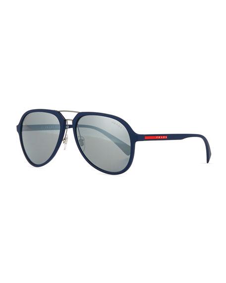 Prada Linea Rossa Men's Pilot Sunglasses