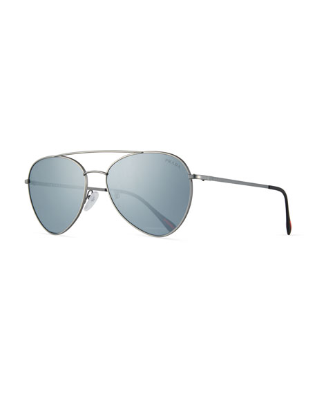 Prada Linea Rossa Men's Spectrum Pilot Sunglasses, Gray