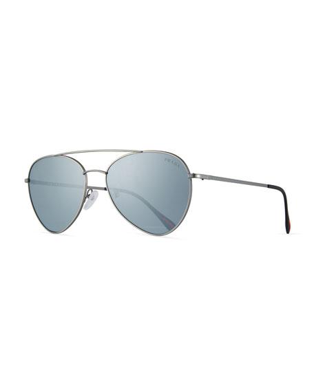 Prada Linea Rossa Men's Spectrum Pilot Sunglasses, Gray