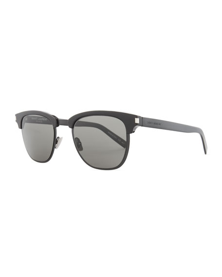 Saint Laurent Classic 108 Retro Sunglasses, Black