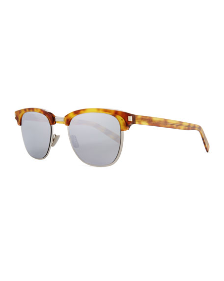 Saint Laurent Classic 108 Retro Sunglasses, Brown
