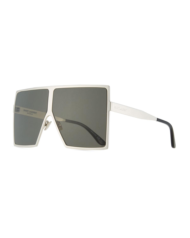 061318c30b Saint Laurent New Wave 182 Betty Metal Shield Sunglasses