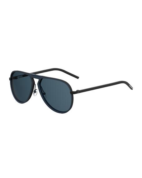 Dior Homme Aluminum Aviator Sunglasses