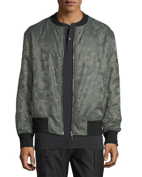 OS-1 Reversible Velvet/Satin Bomber Jacket