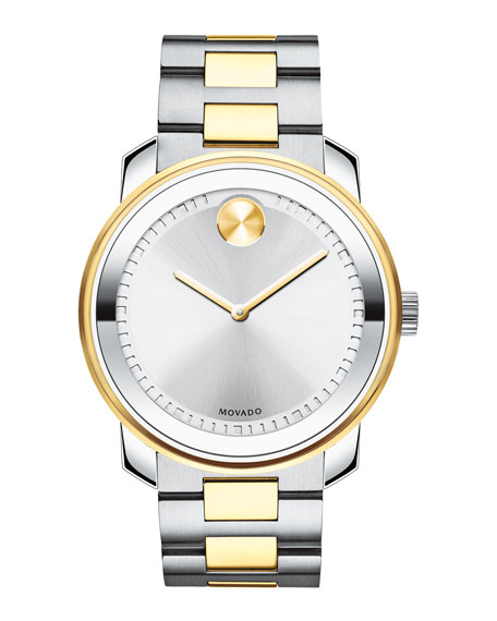 42.5mm Bold Stainless Steel Watch, Silver