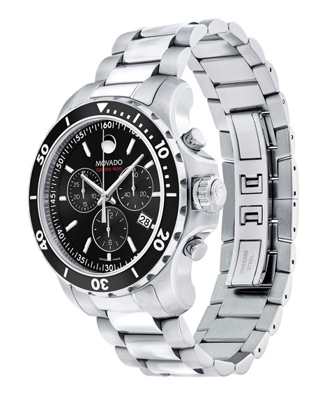 Movado Series 800 Chronograph Watch, Gray/Black