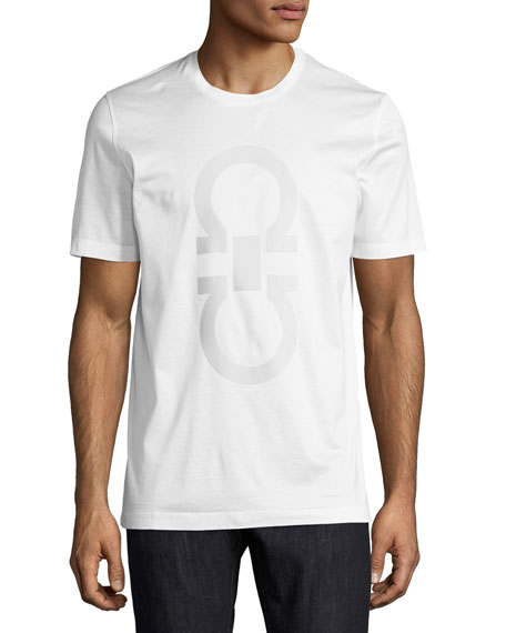 Men's Thermal Logo Cotton T-Shirt, White