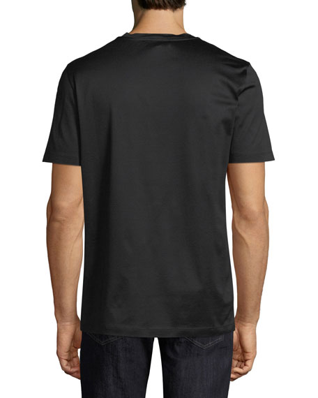 Men's Thermal Logo Cotton T-Shirt, Black