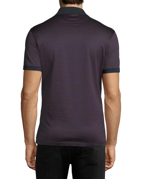 Men's Gancino-Jacquard Knit Polo Shirt