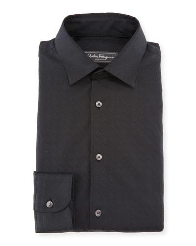 Men's Gancini Jacquard Cotton Sport Shirt