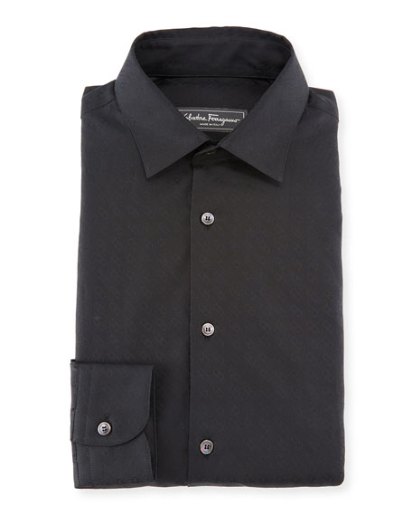 Men's Gancini Jacquard Cotton Sport Shirt