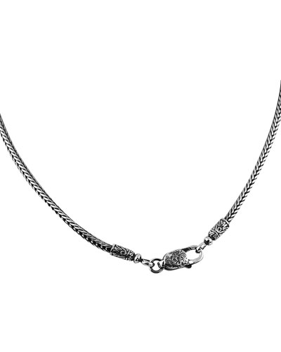 Men's Braided Sterling Silver Chain Necklace