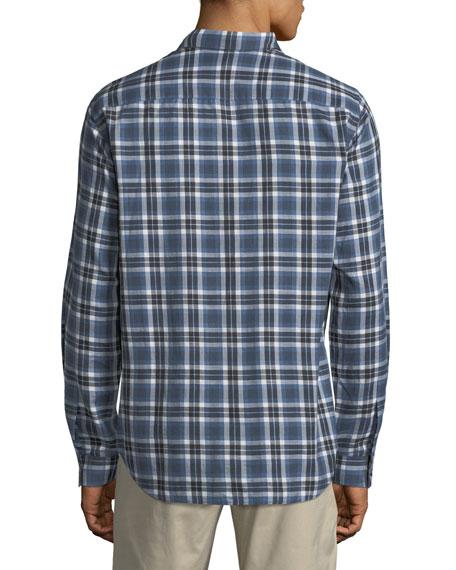 Plaid Flannel Cotton Sport Shirt