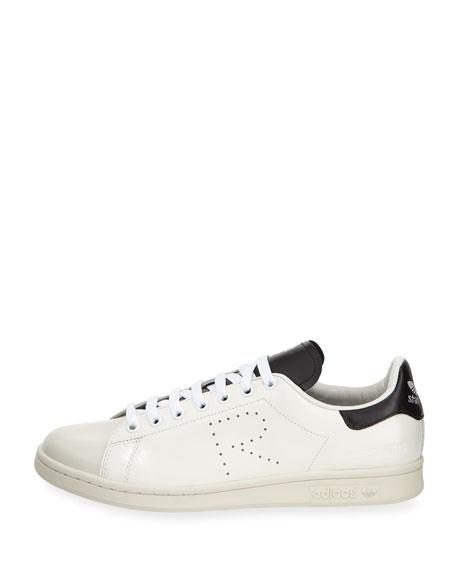 Men's Stan Smith Leather Low-Top Sneaker, White/Black