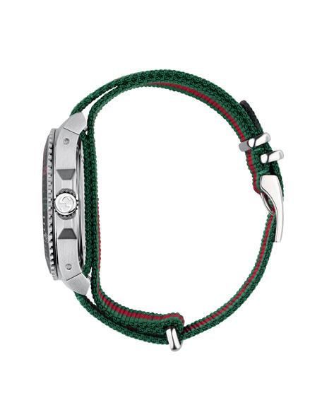 45mm Gucci Dive Watch w/ Nylon Web Strap
