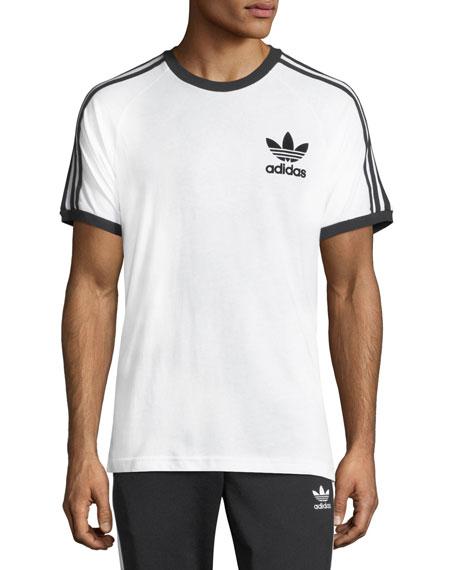 Originals CLFN Slim-Fit Baseball T-Shirt, White/Black