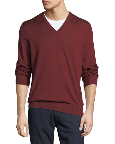 Cashmere/Silk V-Neck Sweater