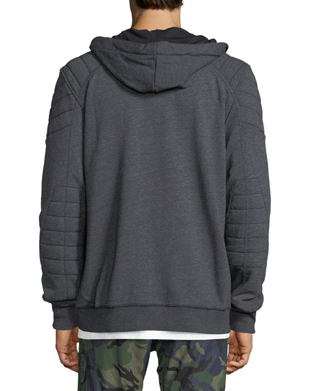 Odiron Suzaki Quilted Zip-Front Hoodie