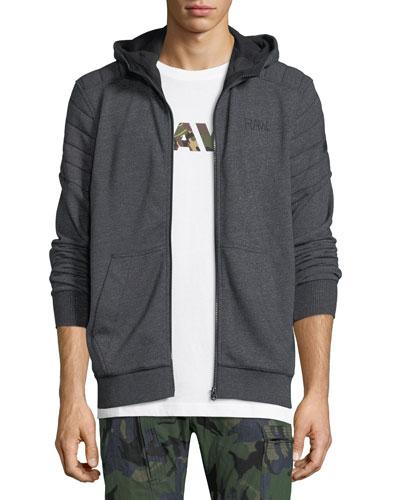 Odiron Suzaki Quilted Zip-Front Hoodie