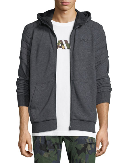 G-Star Odiron Suzaki Quilted Zip-Front Hoodie