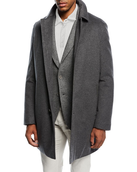 Loro Piana Calvert Stretch-Cashmere Storm Coat
