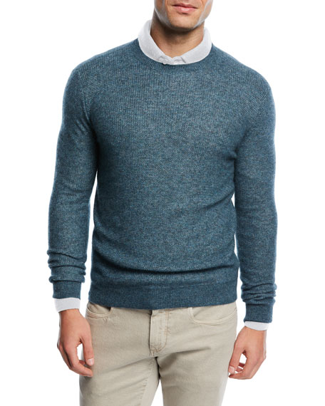 Cashmere-Silk Crewneck Sweater