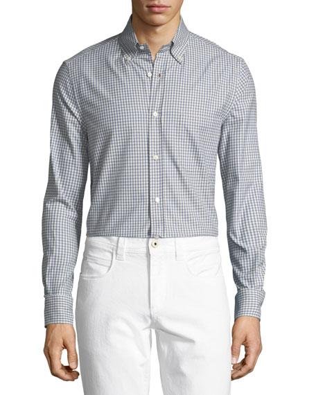 Alfred Gingham Cotton Sport Shirt