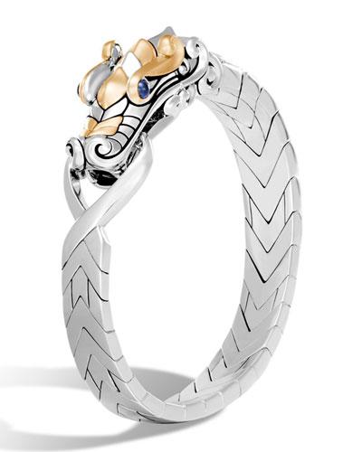 Men's Legends Naga Dragon Sterling Silver & 18K Gold Chain Bracelet