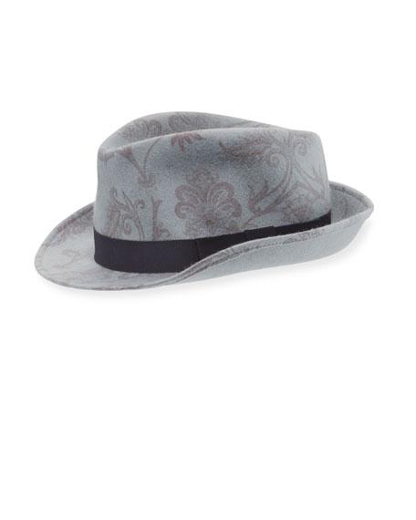 Paisley Fedora Hat