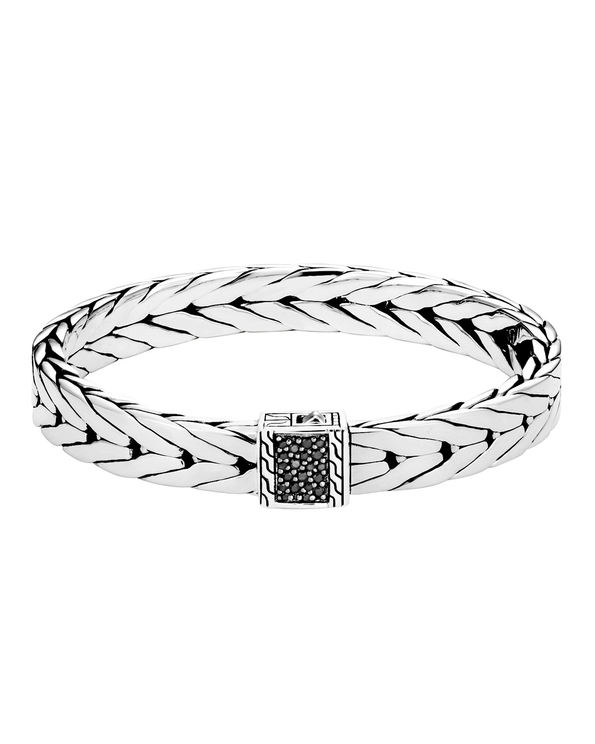John Hardy Men's Modern Chain Bracelet with Black Sapphire