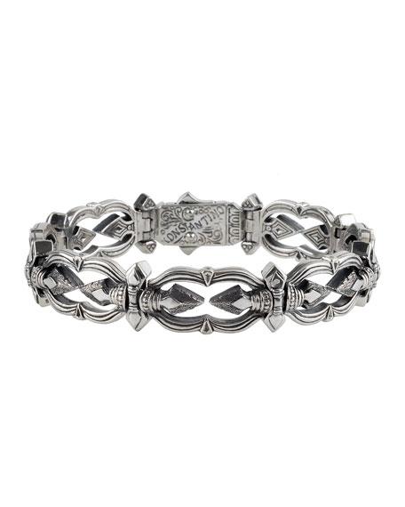 Konstantino Men's Sterling Silver Link Bracelet