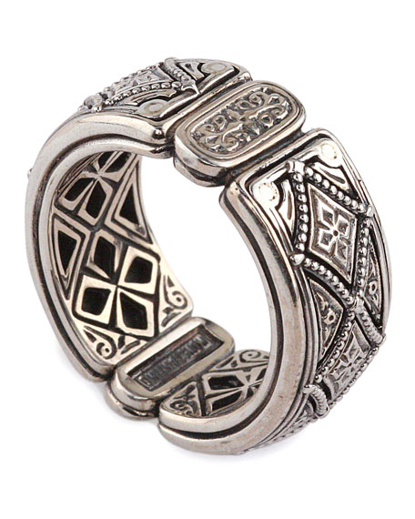 Konstantino Men S Zeus Sterling Silver Band Ring Neiman