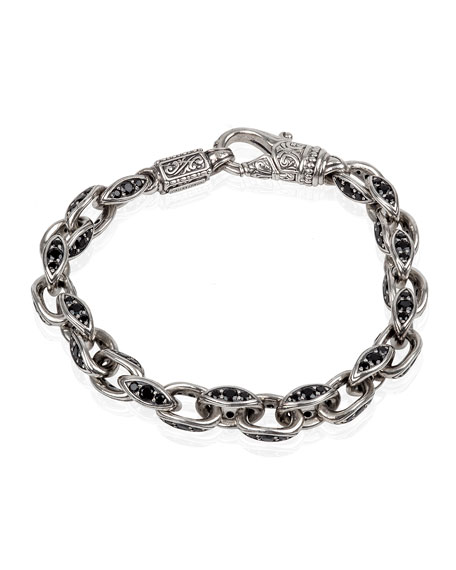 Konstantino Men's Plato Sterling Silver Link Bracelet with