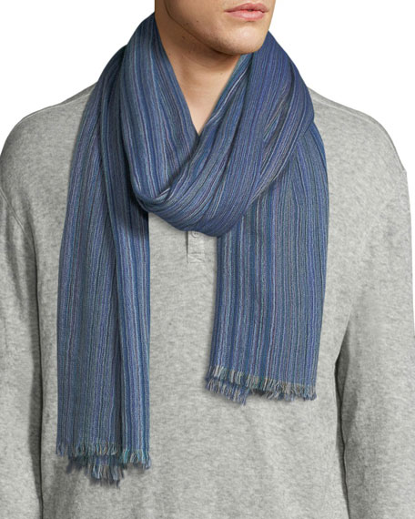19andreas47 Striped Cashmere Scarf